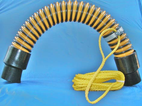 Corrugated flexible hose guide for jetting applications