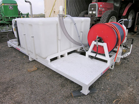 "Skid mounted 4018 skid with 300 gallon tank. 136"" lg. x 74"" w."