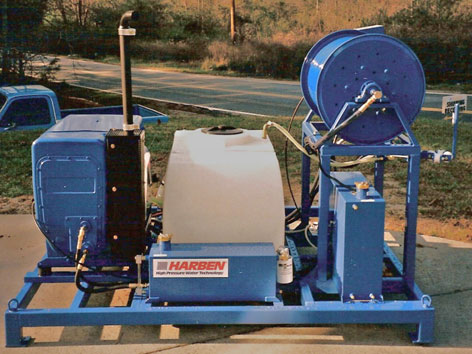 Harben 4016 jetter with 110 gallon tank, unmounted