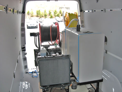 Harben Van Pak jetter installed in Mercedes Sprinter