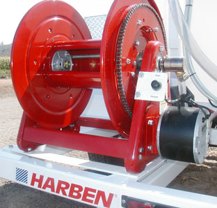 Garden hose storage reel for jetting applications