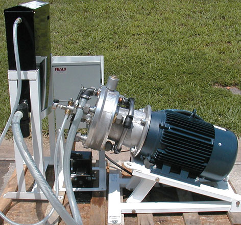 "Harben 4 barrel ""P"" pump powered by a 20 h.p., 3-phase, 460 volt motor"